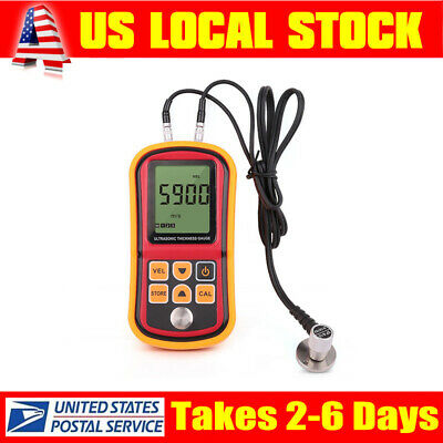 Digital Ultrasonic Thickness Gauge Sound Velocity Depth Tester Meter Measurement