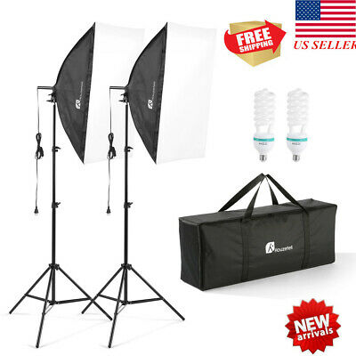 Photography Studio Backdrop Softbox Umbrella Lighting Kits Background Stand sets