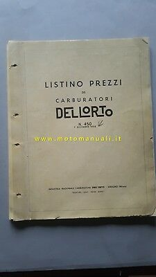 Dell'Orto Carburatori 1958 catalogo ricambi originale spare parts catalogue