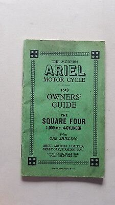 Ariel Square Four 1000 1938 manuale uso moto originale inglese owner's manual