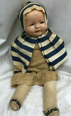 "Ideal Antique Tickletoes Tickle Toes 18"" Doll with Bisque Head"