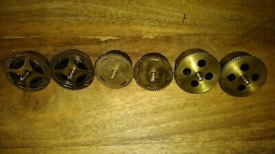 Job lot of 6 vintage clock springs movements for parts spares