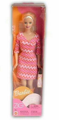 Rare Retired Collectable Avon Special Edition Zig Zag Barbie new in box