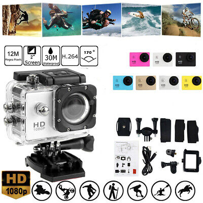 Waterproof Sports Camera 4K DV Car Action Video Record Camcorder Underwater KIT