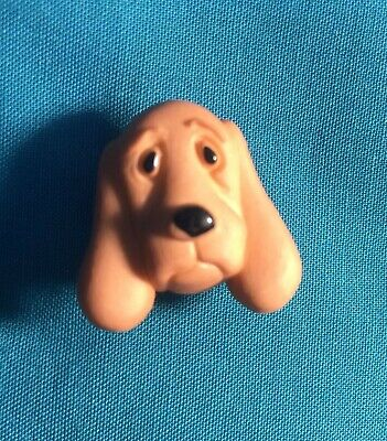 Cute HOUND Brown FACE DOG Pup Fluffy Puppy Animal Holey Clog Shoe Charms