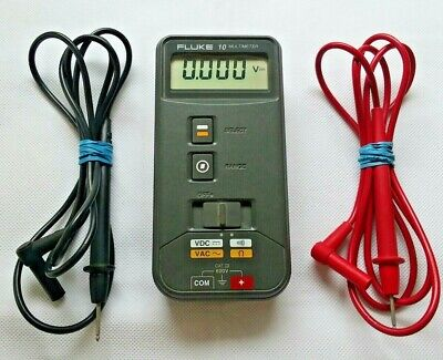 Fluke 10 Multimeter Tested & Working New Battery W Leads Good Condition