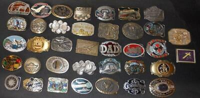 Vintage Belt Buckle Collection. LOT of 37. All 1980s