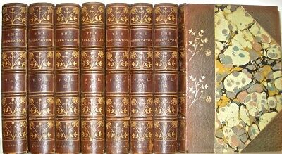 Leather Set;THE SPECTATOR!Intricate Floral Bindings! Limited Edition 1/200 RARE!