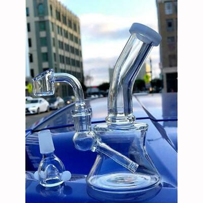 "6"" Collectible Tobacco Glass Water Pipe Bongs Bubbler Hookah Rig Banger + Bowl"