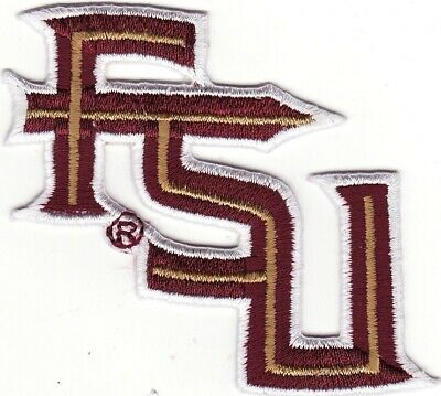 "Florida State Seminoles FSU 2 3/4"" Letters Embroidered Iron On Patch *New*"