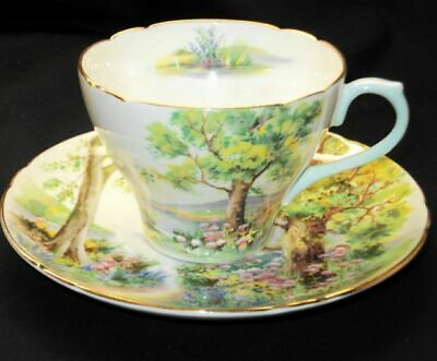"""Trio """"Shelley"""" Woodland Tea Cup, Saucer and Side Plate England"""