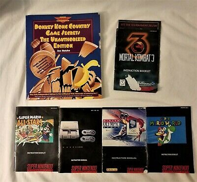 Donkey Kong Country (SNES) Guide RARE & Lot of 5 Super Nintendo Booklets