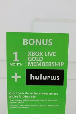 XBOX LIVE GOLD(1 month) HULU+Free shipping.