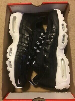 New Nike Air Max 95 PRM Overbranded Black White Leather 538416-020 Size 11 $170