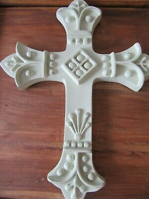 Cross crucifix wall cream decorative ornate style