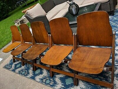Rare Dearborn Co US Military WWII Wood Folding Chairs storkline grand rapids