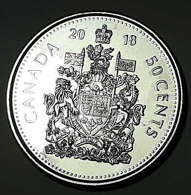 2018 CANADA Half Dollar BU 50 Cent Coin From Mint Roll UNC