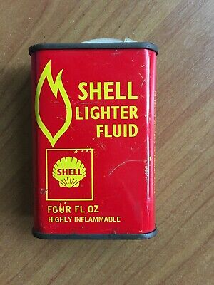 Shell Lighter Fluid Tin