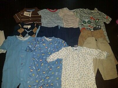Lot Of 12 Baby Boy Clothes 3-6mos