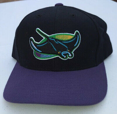 bfd74ca41 TAMPA BAY DEVIL Rays Vintage Authentic Snapback NWT Hat Logo ...
