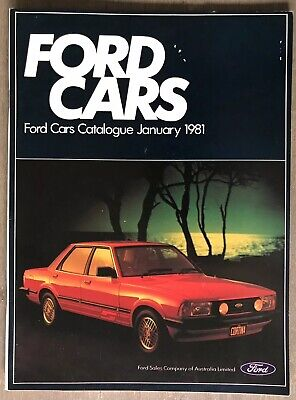 January 1981 Ford Cars original Australian Ford Cars Catalogue