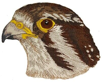 "Prairie Falcon Embroidered Patch 5.7"" x 4.7"""