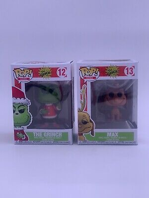 Funko Pop! Books The Grinch - Grinch 12 Santa & Max 13 Dog Vinyl Figure