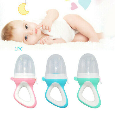1Pc Baby Biting Teether Silicone Pacifier Fruit Milk Feeder Food Nibble Feeder