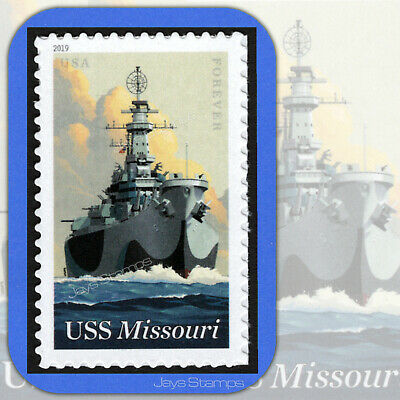 2019  USS MISSOURI  75th Anniversary USPS  Forever® Individual MINT Stamp # 5392