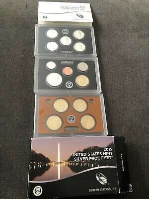 2015 United states Silver Proof Coin Set With certificate Of Authenticity