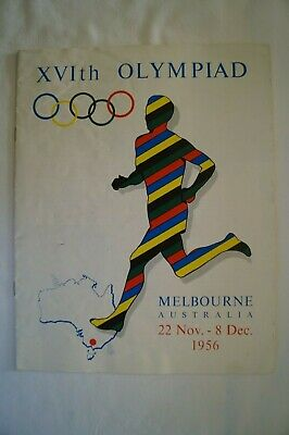 Olympic Games Collectable 1956 Melbourne Official Programme List of Cities Towns