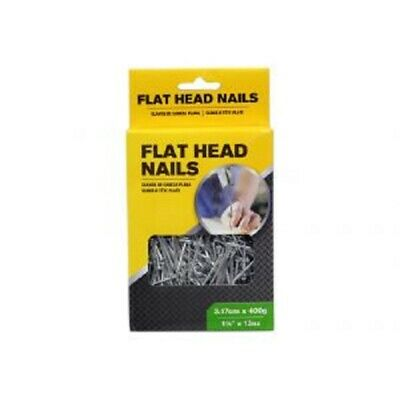 Flat Head Nails 400g (6 Assorted Sizes) 2.54cm, 3.17cm, 3.8cm, 5cm,6.35cm, 7.6cm