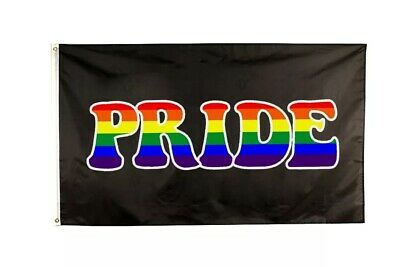LARGE Pride Rainbow Flag Gay Pride LGBT Queer Love Wins Lesbian 150cm x 90cm