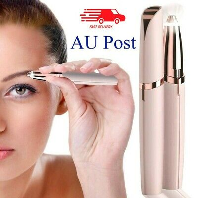Electric Brow Remover Razor Face Eyebrow Trimmer Facial Hair Removal LED Light Y