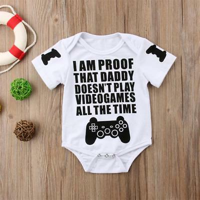 Cute Cotton Newborn Infant Baby Boy Girl Bodysuit Romper Jumpsuit Clothes Outfit