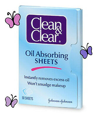 Clean & Clear Instantáneo Oil-Absorbing Hojas 50 Sheets-- Paquete de 3