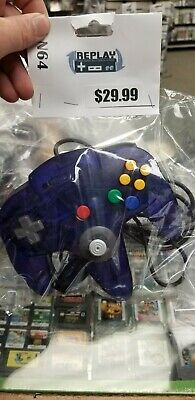 Nintendo N64 Controller grape funtastic tight joystick 8/10 cleaned and tested