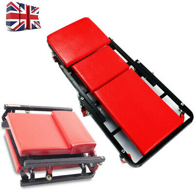 Pro Creeper Mechanics Padded Folding Rolling Trolley Seat Car Van Stool