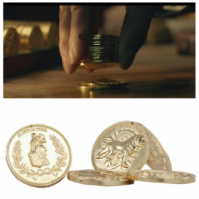 John Wick Continental Hotel Gold Coin Replica Prop High Quality Collection set