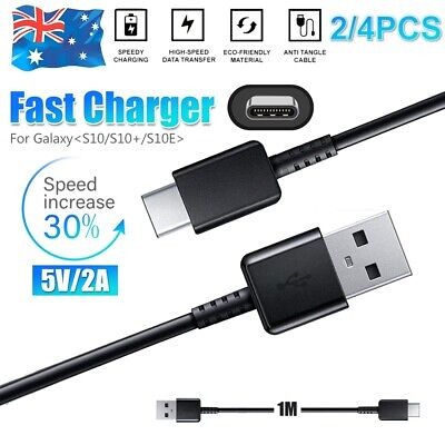 GENUINE Samsung S10 S9+ S8 Charging Type-C USB C Data Sync Cable Cord Charger