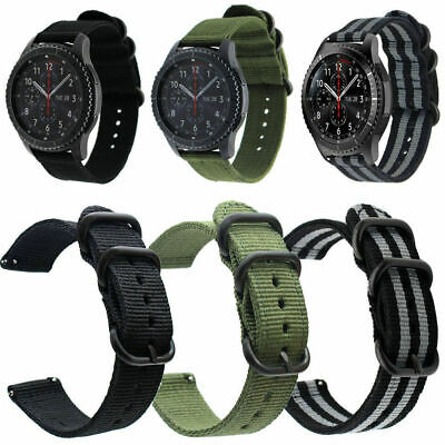 Premium Nylon Canvas Fabric Quick Release Pin Wrist Watch Band Strap 20 22 24mm