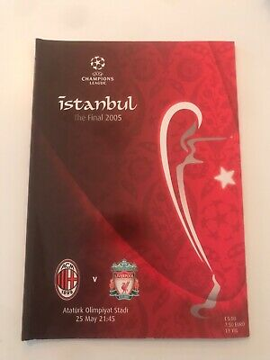 2005 Champions League Final programme in Istanbul A C Milan v Liverpool good con
