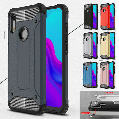 Shockproof Hybrid Dual Protective Hard Case Cover For Huawei Y6 Y7 Y9 2019 2018
