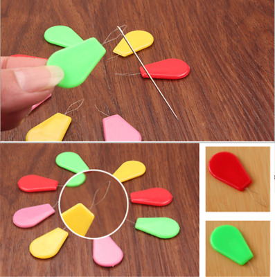 20x Plastic Bow Wire Needle Threader Hand Machine Sewing Stitch Tools Safe Great