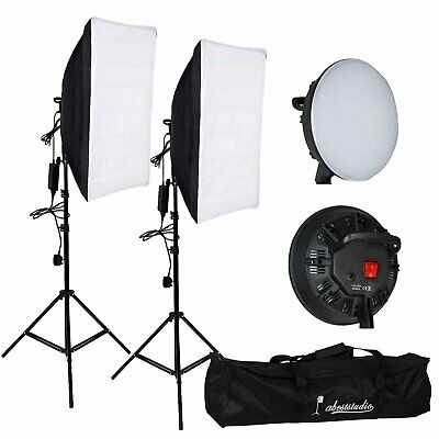 Portable Studio Photography LED Continuous Lighting Kit Softbox Light Stand Bag