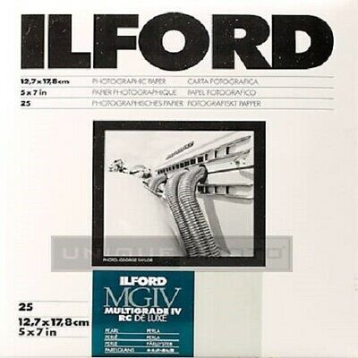 Ilford Multigrade IV RC Deluxe 5 X 7 Inch, 25 Gloss Paper sheets
