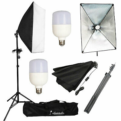 LED 50W Continuous Lighting Softbox Photography Studio Soft Box Light Stand Kit