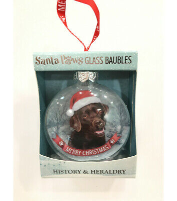 Chocolate Labrador Lab Bauble Christmas Tree Decoration Gift/Present