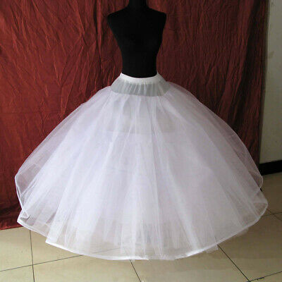 Girl's 6 Layer Tulle Bridal Petticoat Crinoline Underskirt Skirt Wedding no Hoop