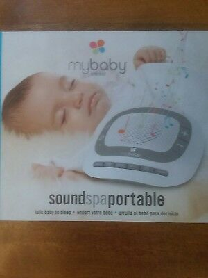 MyBaby by Homedics SoundSpa Portable  Plays 6 Natural Sounds Auto-Off Grey/White